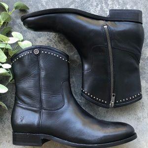 🆕 Frye Melissa Stud Short Boot Black 8